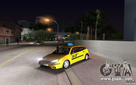 Ford Focus TAXI cab for GTA Vice City