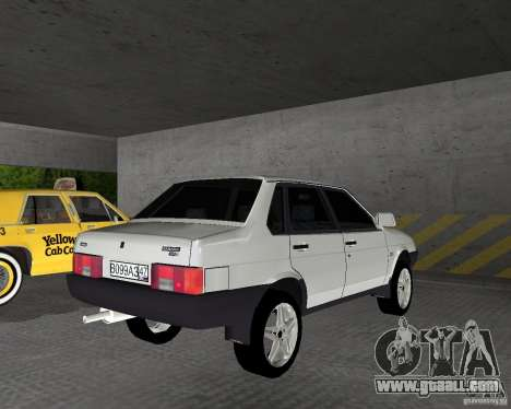 Vaz 21099 Light Tuned for GTA Vice City back left view