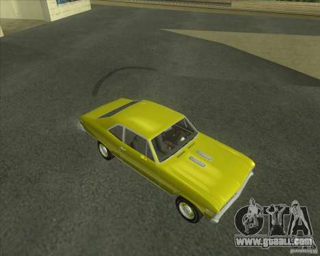 Chevy Nova SS 1969 for GTA San Andreas left view