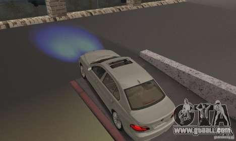 Blue headlights for GTA San Andreas