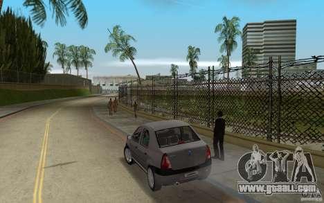 Dacia Logan 1.6 MPI for GTA Vice City back left view