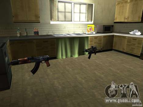 Pak domestic weapons version 2 for GTA San Andreas