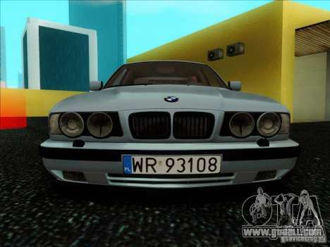 BMW 5 series E34 for GTA San Andreas inner view