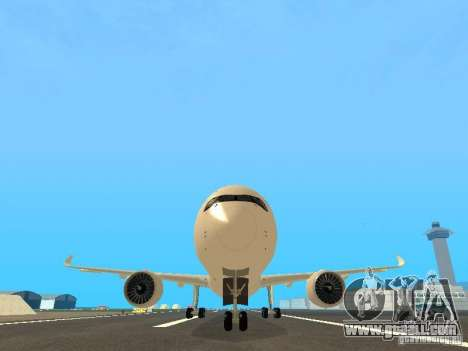 Airbus A350-900 Singapore Airlines for GTA San Andreas side view