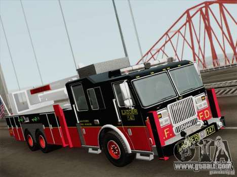 Seagrave Marauder II. SFFD Ladder 147 for GTA San Andreas left view