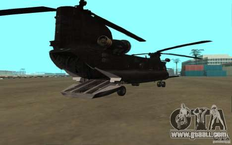 MH-47G Chinook for GTA San Andreas back left view