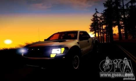 Ford F-150 SVT Raptor V1.0 for GTA San Andreas inner view