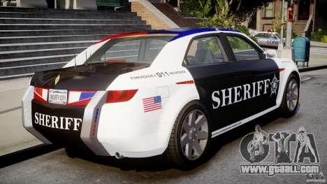 Carbon Motors E7 Concept Interceptor Sherif ELS for GTA 4 back left view