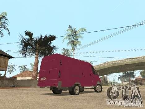 Gazelle 2705 for GTA San Andreas bottom view