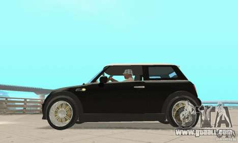 Mini Cooper Hardtop for GTA San Andreas back left view