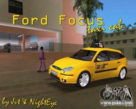 Ford Focus TAXI cab for GTA Vice City right view