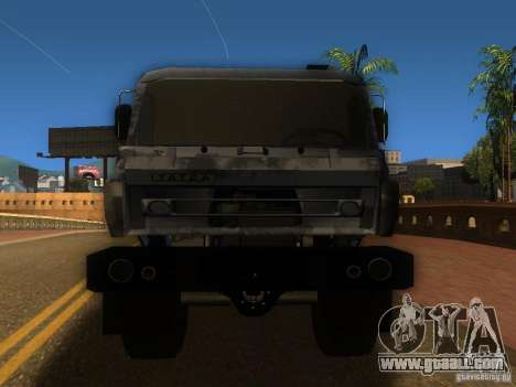 Tatra 815 for GTA San Andreas back view