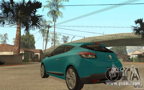 Renault Megane 3 Coupe for GTA San Andreas back left view
