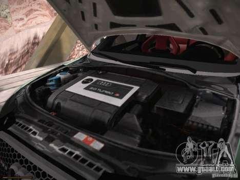 Audi RS3 2011 for GTA San Andreas inner view