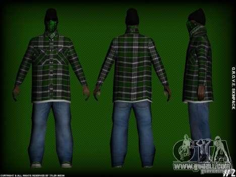 G.R.O.V.E. Skinpack for GTA San Andreas fifth screenshot