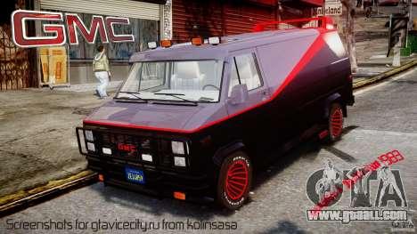 GMC Vandura A-Team Van 1983 for GTA 4