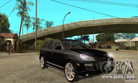 Porsche Cayenne Turbo S 2009 for GTA San Andreas back view