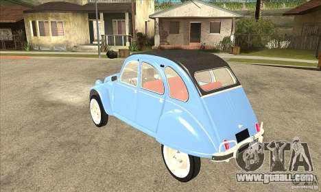 Citroen 2CV for GTA San Andreas back left view