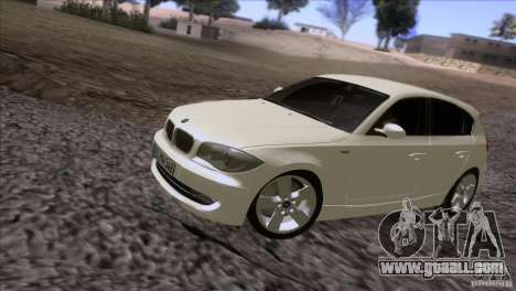 BMW 120i 2009 for GTA San Andreas left view