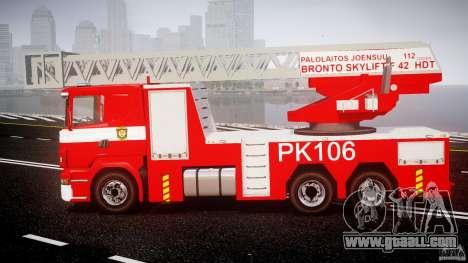 Scania R580 Fire ladder PK106 for GTA 4 left view