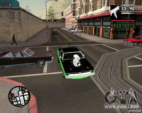 Plymouth Hemi Cuda 440 for GTA San Andreas side view