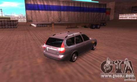 VAZ-2171 v2.0 for GTA San Andreas back left view