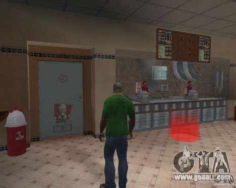 New textures of eateries and shops for GTA San Andreas second screenshot