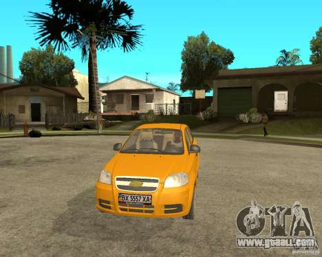 Chevrolet Aveo 2007 for GTA San Andreas