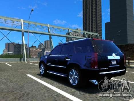 Cadillac Escalade v3 for GTA 4 back left view