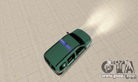 Renault Kangoo Straz Graniczna for GTA San Andreas back left view