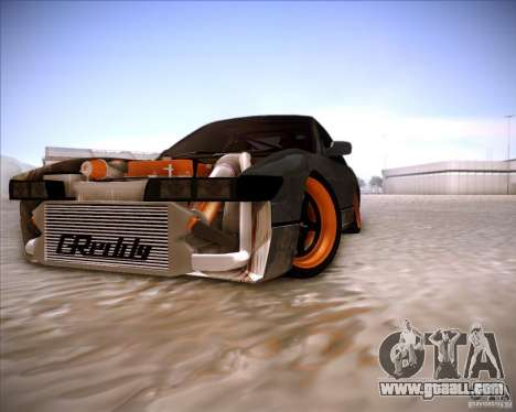 Nissan Silvia S13 Under Construction for GTA San Andreas upper view