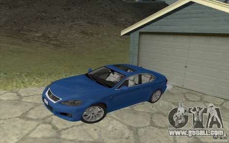 Lexus IS-F v2.0 for GTA San Andreas inner view
