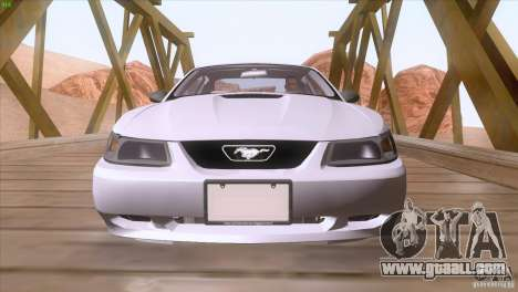 Ford Mustang GT 1999 for GTA San Andreas bottom view