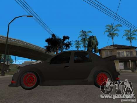 Dacia Logan Tuned for GTA San Andreas left view