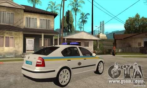 Skoda Octavia II Ukrainian TRAFFIC POLICE for GTA San Andreas left view