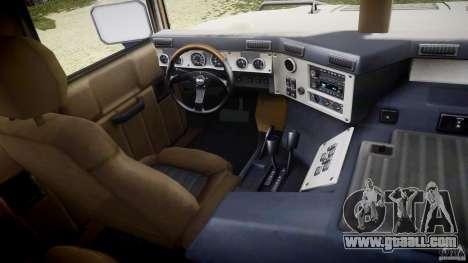 Hummer H1 Original for GTA 4 back view