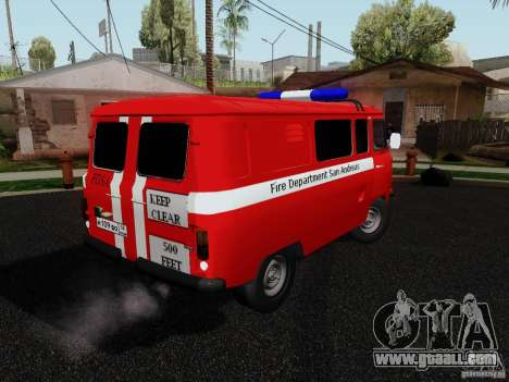 UAZ 3909 fire for GTA San Andreas left view