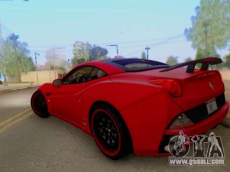 Ferrari California Hamann 2011 for GTA San Andreas side view