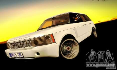 Range Rover Supercharged for GTA San Andreas back left view