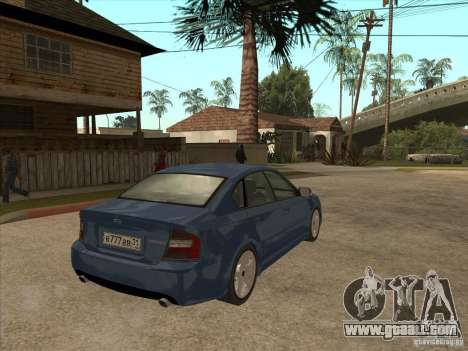 Subaru Legacy 3.0 R for GTA San Andreas right view