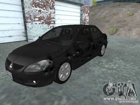 Mitsubishi Lancer 1.6 for GTA San Andreas side view