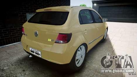 Volkswagen Gol 1.6 Power 2009 for GTA 4 back left view