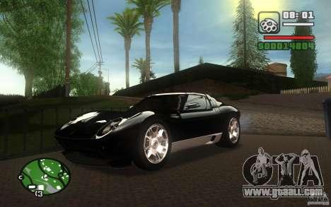Lamborghini Miura Concept for GTA San Andreas side view