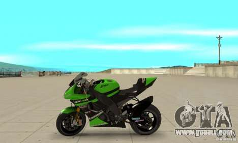 Kawasaki ZX-10R for GTA San Andreas left view