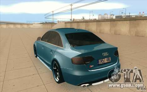 Audi S4 2009 for GTA San Andreas back left view