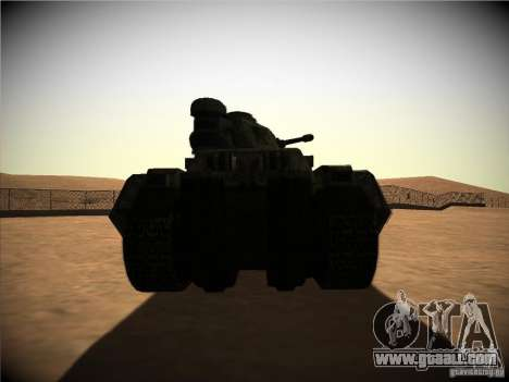 Tank from the game TimeShift for GTA San Andreas right view
