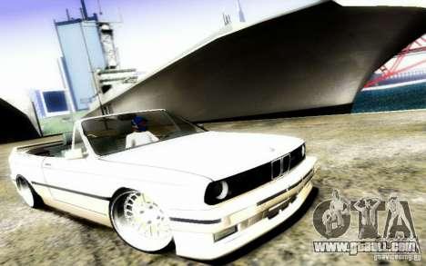 BMW E30 M3 Cabrio for GTA San Andreas side view