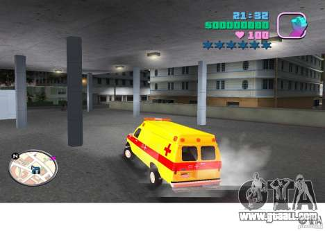 Ford Econoline E350 Ambulance for GTA Vice City left view