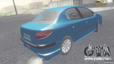 Peugeot 206 SD Iranian for GTA San Andreas back left view