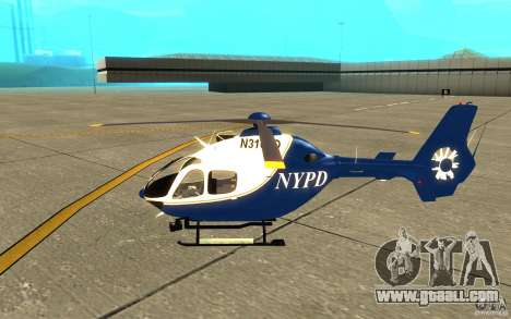 NYPD Eurocopter By SgtMartin_Riggs for GTA San Andreas back left view
